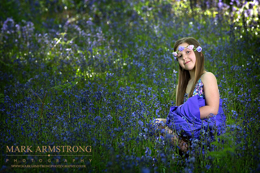Bluebells Portrait With Jasmine