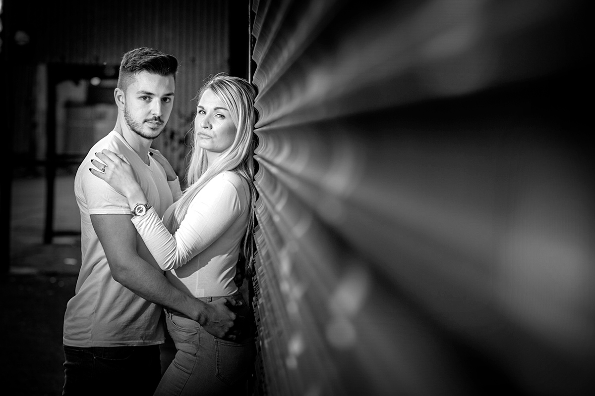 black and white wedding and portrait photographer